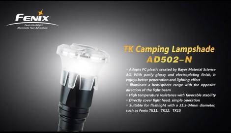 Difusor Tipo Camping Gas Para Linternas Fénix Tk15, Tk16 y TK09-N