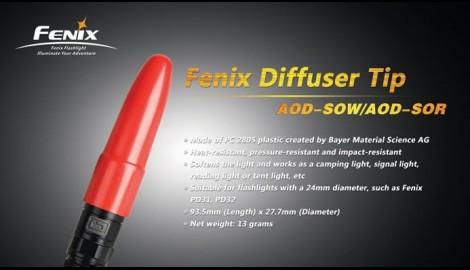 Difusor Rojo Para Linternas Led Fenix PD32, E35-UE