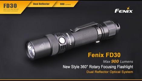 Linterna Led Fénix enfocable FD30 900 Lúmenes y 6 Modos Regalamos batería ARB-L18-2600U (18650 recargable con micro USB)